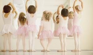 Ballet Dancers Performing in Front of Mirror