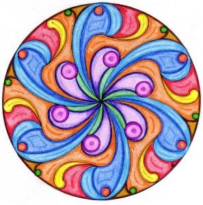 Mandala 3 - Lápices de colores o maderos