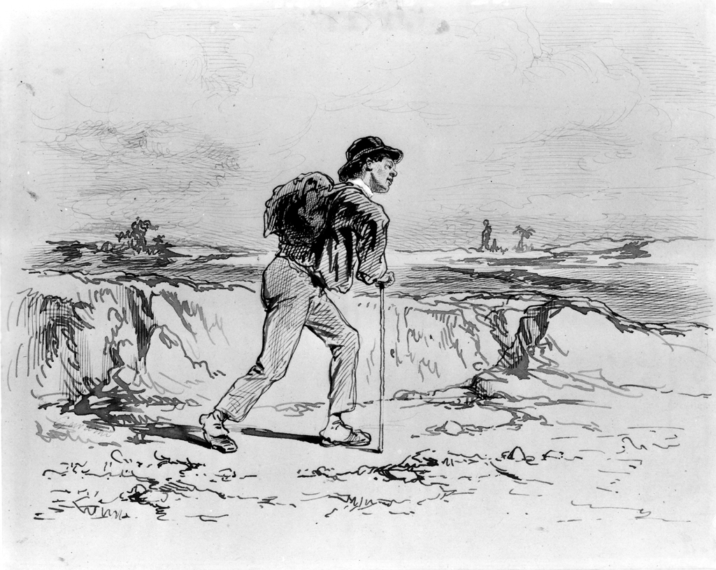 Paul_Gavarni_-_Young_Man_with_Knapsack_-_Walters_371475