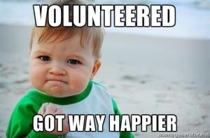 Voluntariatul ne face mai fericiți